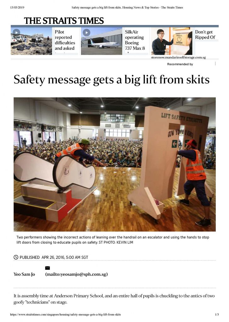 Safety message gets a big lift from skits, Housing News & Top Stories - The Straits Times_Page_1